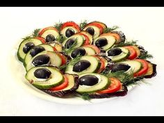 "Aperitiv cu vinete ""Coada de Paun"" salata meze ve kanepe Tarifleri videolu tarif – The Most Practical and Easy Recipes Roasted Eggplant Dip, Spice Blends, Food Festival, Sushi, Dips, Spices, Appetizers, Low Carb, Keto"