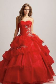 gorgeous red ball gown