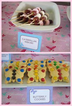 Butterfly Birthday Party, Fairy Birthday Party, 3rd Birthday Parties, 4th Birthday, Birthday Ideas, Butterfly Cookies, Butterfly Kids, Festa Party, First Birthdays