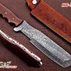 """DAMASCUS CUSTOM HANDMADE 13"""" TRACKER KNIFE, MICRATA SHEET HG-740 Hunting Knives, Damascus Steel, Handmade, Hand Made, Handarbeit"""