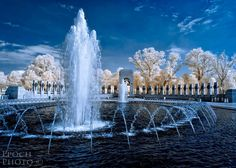 """Infrared, or """"IR"""" photography, offers photographers the opportunity to explore the world of the unseen. This is an introduction to infrared photography - by Bob Vishneski. Infrared Photography, Caravaggio, Wwii, Egypt, Waterfall, Skyline, Explore, Black And White, Landscape"""