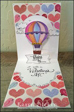 Valentine Hot Air Balloon Pop-Up Card