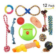 Aipper Dog Puppy Toys 12 Pack Puppy Chew Toys for Playtime and Teeth Cleaning IQ Treat Ball Squeak Toys and Dog Flying Disc Included Puppy Teething Toys for Medium To Small Dogs Assorted Colors ** You can find more details by visiting the image link. (This is an affiliate link) #toys