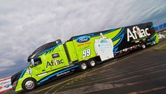 Aflac, Roush Racing, NASCAR, Volvo Transporter, Hauler