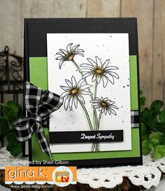 GKD April 2017 Releae. Card designed by Sheri Gilson. Features Daisy Delight stamp set illustrated by Theresa Momber. www.shop.ginakdesigns.com