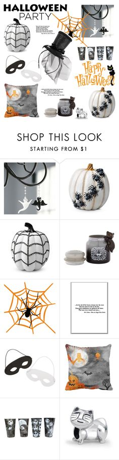 """""""Halloween Party Decor"""" by slavicabojanovic ❤ liked on Polyvore featuring interior, interiors, interior design, home, home decor, interior decorating, Ballard Designs, Improvements, Yankee Candle and Bling Jewelry"""