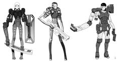 CharacterConcepts 009 by AdrianDadich on deviantART