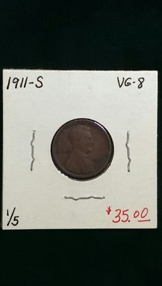 1911-S Lincoln Cent VG-8
