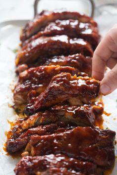 Slow Cooker Ribs | tastesbetterfromscratch.com