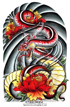 Asian Snake Peonies by hatefueled.deviantart.com on @deviantART