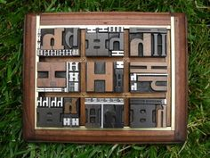"""Amazing Graphic Design of Letterpress Type Alphabet Letter """" H """" in lots of sizes and styles"""