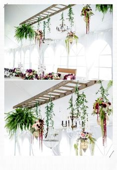 How to Decorate Your Rustic Wedding With Seemly Useless Ladders - Balkon en ind. How to Decorate Your Rustic Wedding With Seemly Useless Ladders - Balkon en indoortuin inspiratie - ideas Indoor Garden, Indoor Plants, Home And Garden, Garden Planters, Garden Shrubs, Hanging Plants Outdoor, Hanging Herbs, Patio Plants, Rooftop Garden