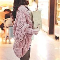 Women Cardigan Knitted Long Sleeve Batwing poncho Sweater Cardigans Fashion Girl's Coat Solid Crocheted Sweaters Tops Autumn