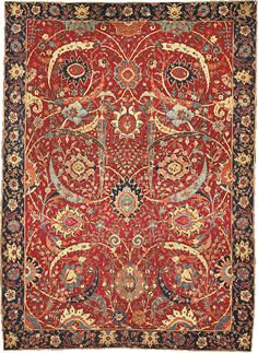 Nazmiyal Antique Rugs in New York City is the premier antique rug gallery for beautiful antique carpets, rare Persian rugs and vintage mid century carpets. Persian Carpet, Persian Rug, Persian Decor, Textiles, Iranian Rugs, Iranian Art, Ancient Persian, Patterned Carpet, Rugs On Carpet