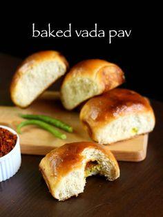 baked vada pav recipe, masala bun recipe, ladi pav with step by step photo/video. healthier, no oil, baked version of mumbai street food vada pav recipe. Vada Pav Recipe, Chaat Recipe, Holi Recipes, Indian Food Recipes, Indian Snacks, Bakery Recipes, Cooking Recipes, Bread Recipes, Vegetarian Recipes