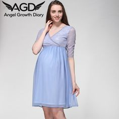 Find More Dresses Information about Spring And Summer Pregnant Woman Maternity Chiffon Dress Clothing Clothes V neck European And American Fashion Lace Stitching,High Quality dress up boys girls,China dress up summer clothes Suppliers, Cheap clothes rotary from Angel Growth Diary on Aliexpress.com