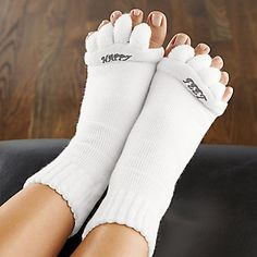 Happy Feet Original Foot Alignment Socks , Pair :: Overlapping Toes :: Shop now with FootSmart