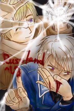 Russia and Prussia! Hetalia!