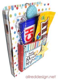 Allred Design Blog: Creative Gift Wrap Idea: Movie Night DVD Wrap Tutorial
