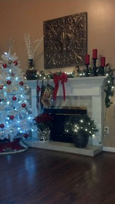 Christmas Mantle have the stands need red candles