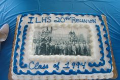Cake with our graduation day class picture.