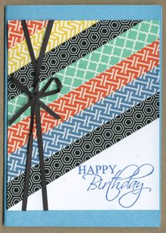 Hand made card with Washi tape