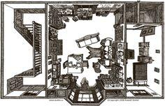 Sherlock Holmes' flat at 221 b Baker Street
