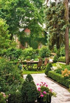 English country garden. Beautiful!
