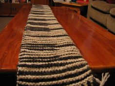 Shadow Knit Piano Scarf - Looks like a regular striped scarf until you see it from an angle!