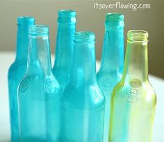 How to tint bottles with three ingredients. Need to try this!