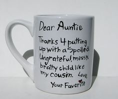 Thanks 4 putting up with cousin...Funny Gift 4 by Meanmuggin39cups, $19.95