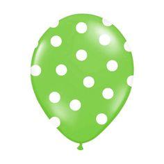 Ballons gonflables vert à pois blanc, le mélange de deux couleurs pour une atmosphère raffinée. Ces ballons vert feront le bonheur de votre décoration de salle.