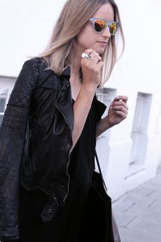 Charlotte from The Fashion Guitar in the Muubaa Minsk Quilted Leather Biker in Black