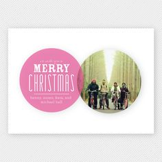 Venn Diagram PRINTABLE Christmas Photo Card
