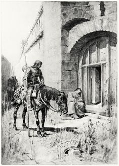 O, when we reach'd  The city, our horses stumbling as they trode  On heaps of ruins    W. L. Taylor, from The Holy Grail, by Alfred, Lord Tennyson, Boston, 1887.