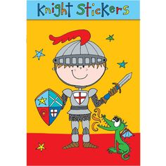 6 year old Kids who love knights will have lots of fun with these Rachel Ellen Knights Stickers. A great gift to encourage them to be creative. There is also a matching colouring book too!