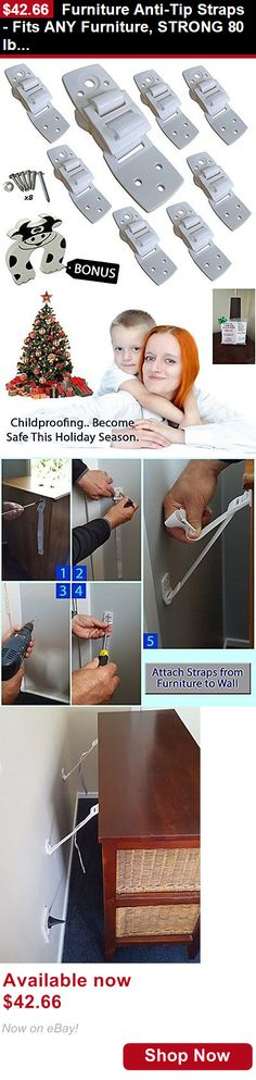 Baby Safety Locks And Latches: Furniture Anti-Tip Straps - Fits Any Furniture, Strong 80 Lb Hold Per Strap New BUY IT NOW ONLY: $42.66