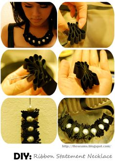 Ribbon Statement Necklace #DIY