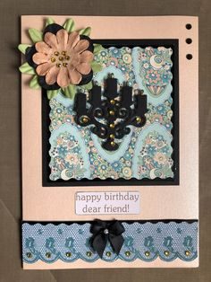 Made from Downton Abbey craft cd and dies Happy Birthday Dear Friend, Card Crafts, Downton Abbey, Craft Projects, Sapphire, Frame, Cards, Picture Frame, Frames