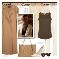 """""""Camel Coat"""" by tinayar ❤ liked on Polyvore featuring Chloé, Weekend Max Mara, Gucci, Elizabeth and James, Tom Ford, MICHAEL Michael Kors and camelcoat"""