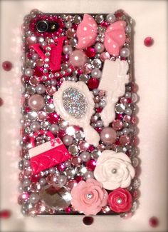 Beautiful Louis Vuitton inspired Blingaholic Cell Phone Case.  Order your custom case: http://www.etsy.com/shop/Blingaholic or Facebook Pg:  http://www.facebook.com/pages/Bling-Aholic-Cases/334175459941129?ref=ts