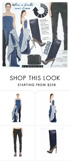 """Denim life"" by helenevlacho ❤ liked on Polyvore featuring A.F. Vandevorst, The Row and svmoscow"