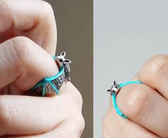 Bat Ring Custom Colored Animal Wrap ring Birthday by colormemi