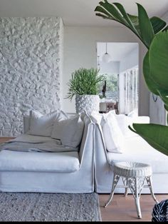 Colour of the Month July - Winter White, Image Source: Plascon Essential Collection Summer Colors, Winter White, The Hamptons, Paint Colors, Love Seat, 2015 Winter, Design Inspiration, Colours, Couch