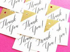 Wedding Favor Tags  Gold Glitter Favor by LittleSparkCreations