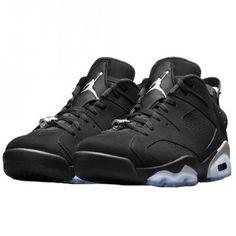 Chaussures Air Jordan 6 Retro low Black Metallic Silver,304401-003