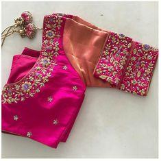 Cutwork Blouse Designs, Wedding Saree Blouse Designs, Half Saree Designs, Simple Blouse Designs, Stylish Blouse Design, Blouse Neck Designs, Blouse Patterns, Magam Work Blouses, Latest Maggam Work Blouses
