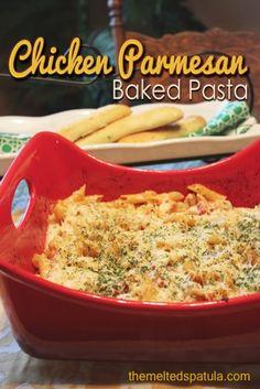 Chicken Parmesan Baked Pasta | Recipe Devil