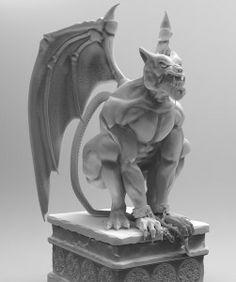 Gargoyle. Created fot Uncharted Golden Abyss