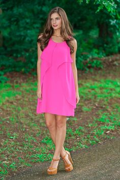 Flutter By Dress-Magenta - $39.00